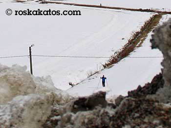 Hyvä ei ole ilmastotietoisen hiihtäjän hiihdellä.